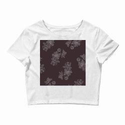 maroon Floral Crop Top | Artistshot