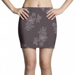 maroon Floral Mini Skirts | Artistshot