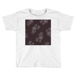 maroon Floral Toddler T-shirt | Artistshot