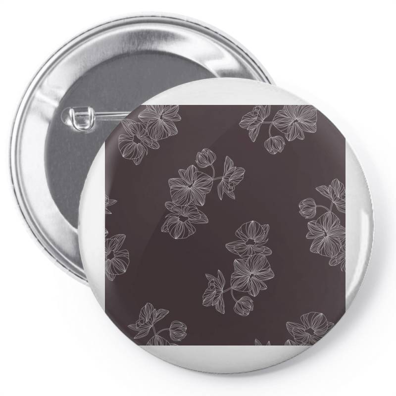 Maroon Floral Pin-back Button | Artistshot
