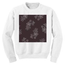 maroon Floral Youth Sweatshirt | Artistshot