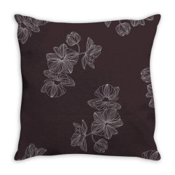 maroon Floral Throw Pillow | Artistshot