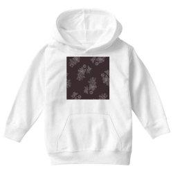 maroon Floral Youth Hoodie | Artistshot