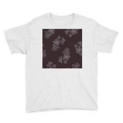 maroon Floral Youth Tee | Artistshot