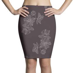 maroon Floral Pencil Skirts | Artistshot