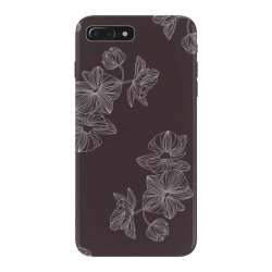 maroon Floral iPhone 7 Plus Case | Artistshot
