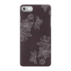 maroon Floral iPhone 7 Case | Artistshot
