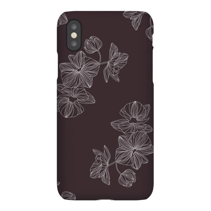 Maroon Floral Iphonex Case   Artistshot