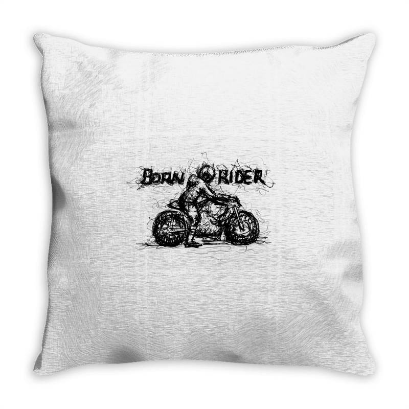 Born Rider Throw Pillow | Artistshot