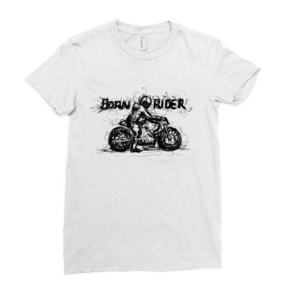 Born Rider Ladies Fitted T-shirt Designed By Lalitcanvas