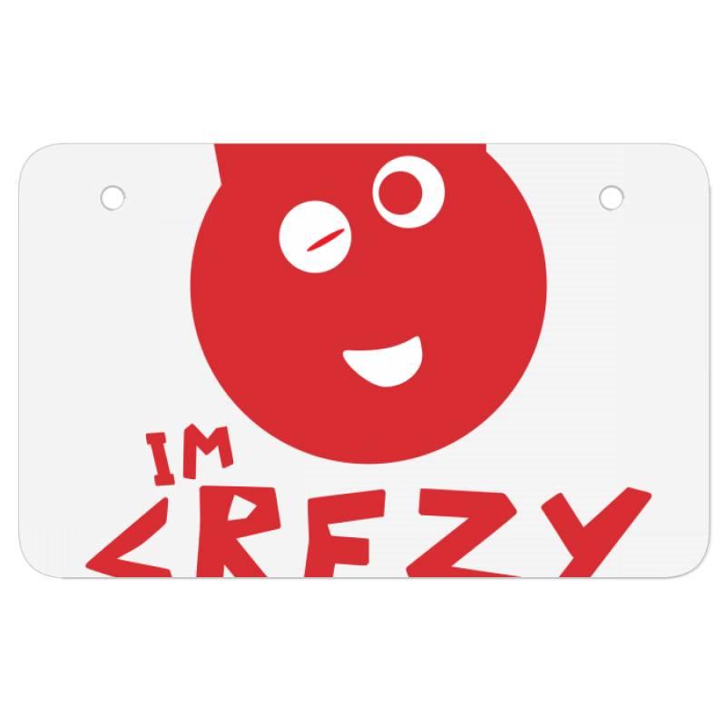 Mood Crezy Atv License Plate   Artistshot
