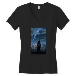 Dragon ball Z (DBZ) GOKU (Low Poly Abstract) FanArt (ZoomOut Effect) Women's V-Neck T-Shirt | Artistshot