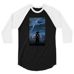 Dragon ball Z (DBZ) GOKU (Low Poly Abstract) FanArt (ZoomOut Effect) 3/4 Sleeve Shirt | Artistshot