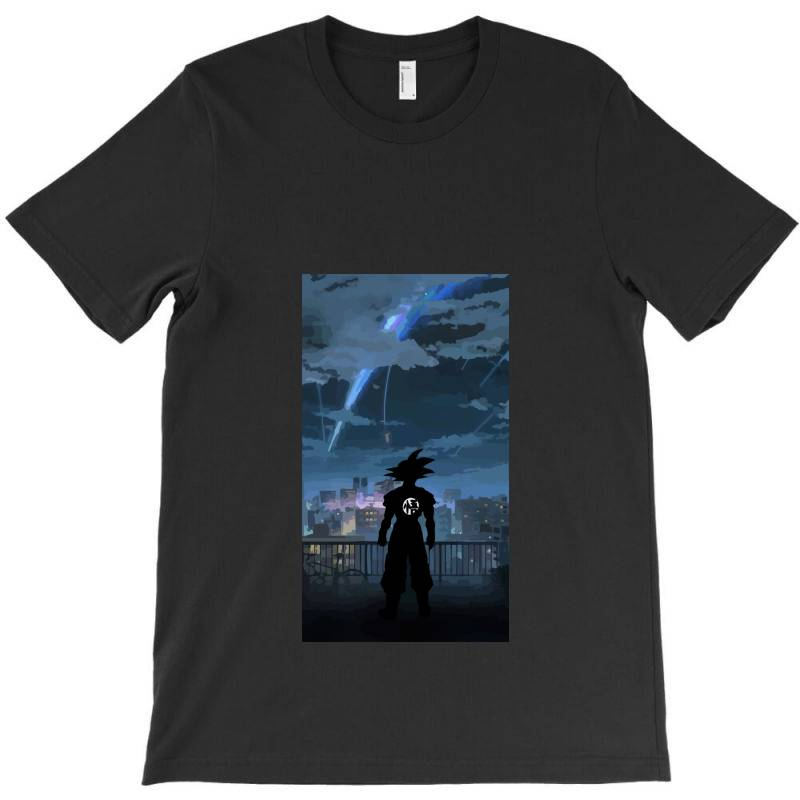 Dragon Ball Z (dbz) Goku (low Poly Abstract) Fanart (zoomout Effect) T-shirt | Artistshot