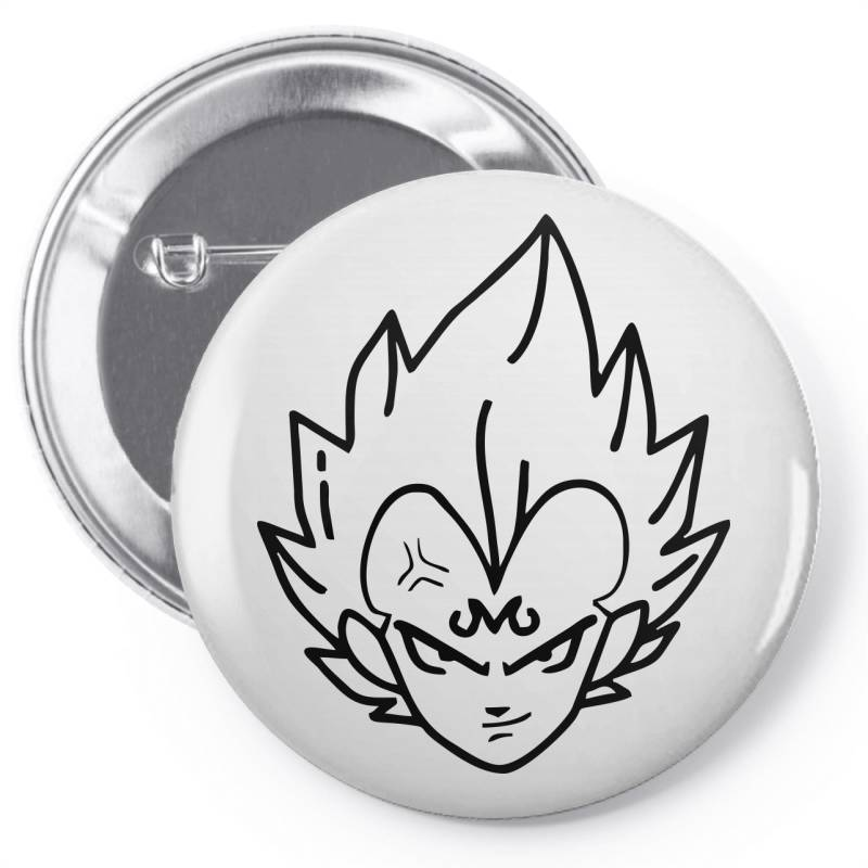 Dragon Ball Z (dbz) Vegeta (low Poly Abstract) Fanart (zoomout Effect) Pin-back Button | Artistshot