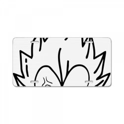Dragon ball Z (DBZ) Vegeta (Low Poly Abstract) FanArt (ZoomOut Effect) License Plate | Artistshot