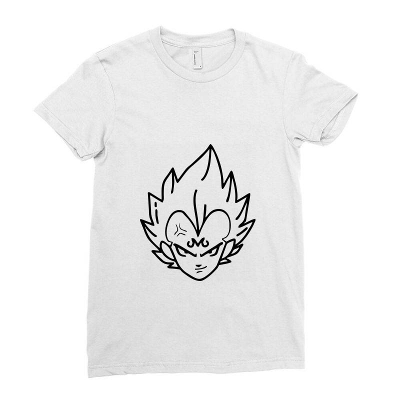 Dragon Ball Z (dbz) Vegeta (low Poly Abstract) Fanart (zoomout Effect) Ladies Fitted T-shirt | Artistshot