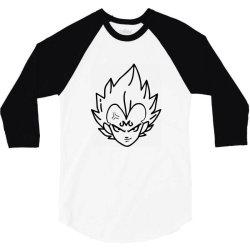 Dragon ball Z (DBZ) Vegeta (Low Poly Abstract) FanArt (ZoomOut Effect) 3/4 Sleeve Shirt | Artistshot