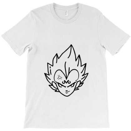 Dragon Ball Z (dbz) Vegeta (low Poly Abstract) Fanart (zoomout Effect) T-shirt Designed By Dc47