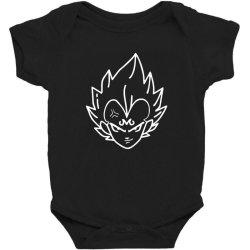 Dragon ball Z (DBZ) Vegeta (Low Poly Abstract) FanArt (ZoomOut Effect) Baby Bodysuit | Artistshot