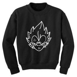 Dragon ball Z (DBZ) Vegeta (Low Poly Abstract) FanArt (ZoomOut Effect) Youth Sweatshirt | Artistshot