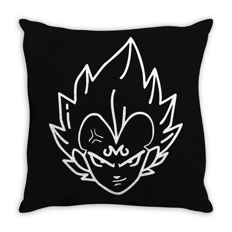 Dragon Ball Z (dbz) Vegeta (low Poly Abstract) Fanart (zoomout Effect) Throw Pillow | Artistshot
