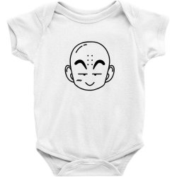 Dragon ball Z (DBZ) krillin (Low Poly Abstract) FanArt Baby Bodysuit   Artistshot