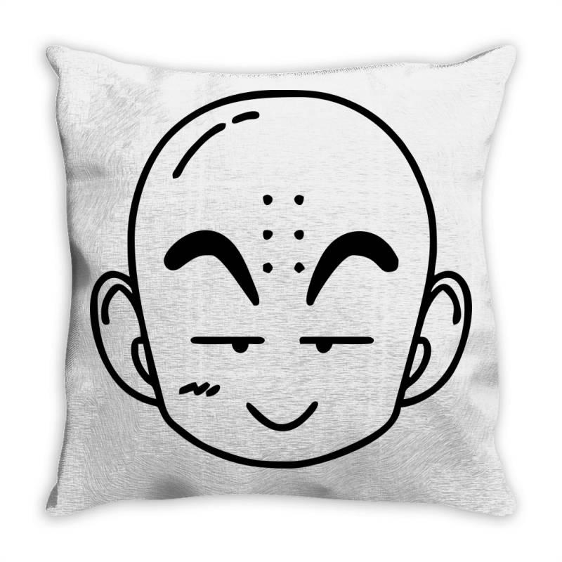 Dragon Ball Z (dbz) Krillin (low Poly Abstract) Fanart Throw Pillow   Artistshot