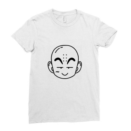 Dragon Ball Z (dbz) Krillin (low Poly Abstract) Fanart Ladies Fitted T-shirt Designed By Dc47