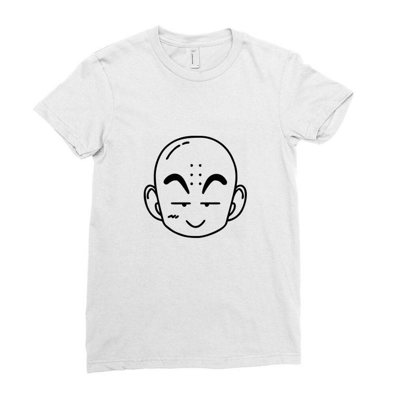 Dragon Ball Z (dbz) Krillin (low Poly Abstract) Fanart Ladies Fitted T-shirt | Artistshot