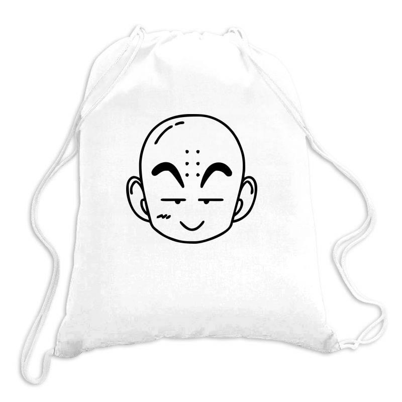 Dragon Ball Z (dbz) Krillin (low Poly Abstract) Fanart Drawstring Bags | Artistshot