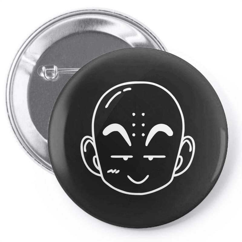 Dragon Ball Z (dbz) Krillin (low Poly Abstract) Fanart Pin-back Button | Artistshot
