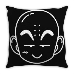 Dragon ball Z (DBZ) krillin (Low Poly Abstract) FanArt Throw Pillow | Artistshot