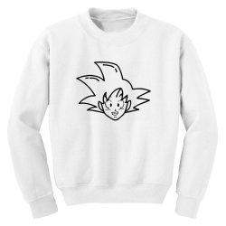 Dragon ball Z (DBZ) GOKU (Low Poly Abstract) Youth Sweatshirt | Artistshot