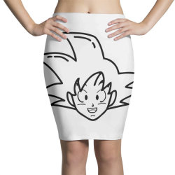 Dragon ball Z (DBZ) GOKU (Low Poly Abstract) Pencil Skirts | Artistshot