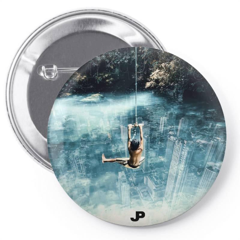Underwater City Pin-back Button | Artistshot