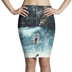UNDERWATER CITY Pencil Skirts | Artistshot