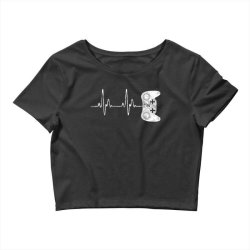 Gamer Heartbeat T-Shirt Video Game Lover Gift Crop Top | Artistshot