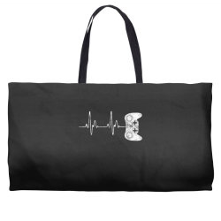 Gamer Heartbeat T-Shirt Video Game Lover Gift Weekender Totes   Artistshot