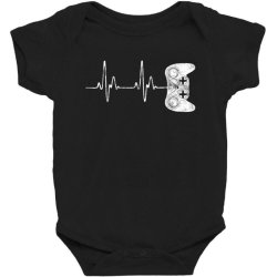 Gamer Heartbeat T-Shirt Video Game Lover Gift Baby Bodysuit | Artistshot
