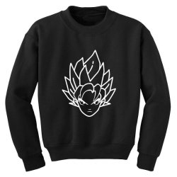 Dragon ball Z (DBZ) GOKU (Low Poly Abstract) FanArt Youth Sweatshirt   Artistshot