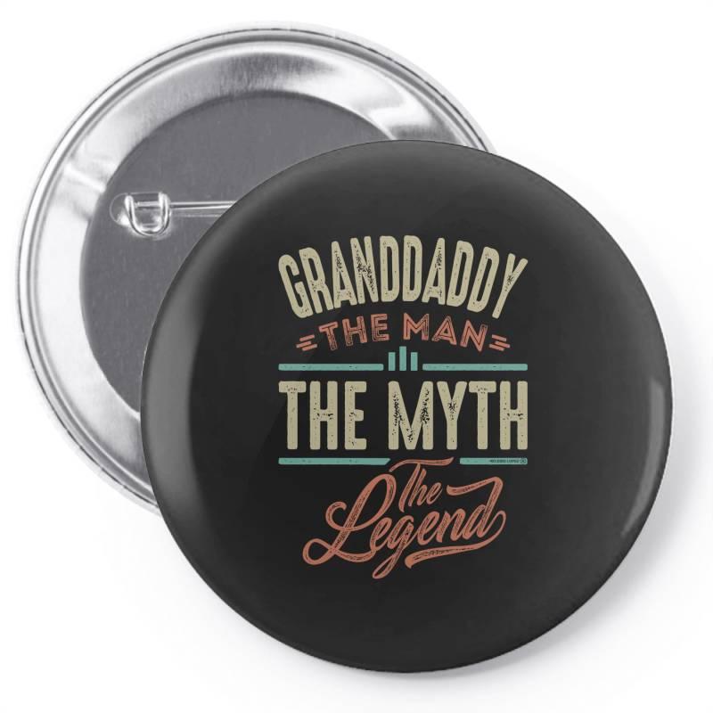 Granddaddy The Myth The Legend Pin-back Button   Artistshot