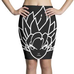 Dragon ball Z (DBZ) GOKU (Low Poly Abstract) FanArt Pencil Skirts | Artistshot