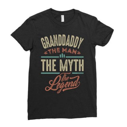 Granddaddy The Myth The Legend Ladies Fitted T-shirt Designed By Conco335@gmail.com