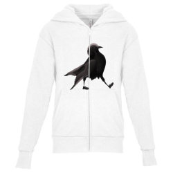 Crow Youth Zipper Hoodie | Artistshot