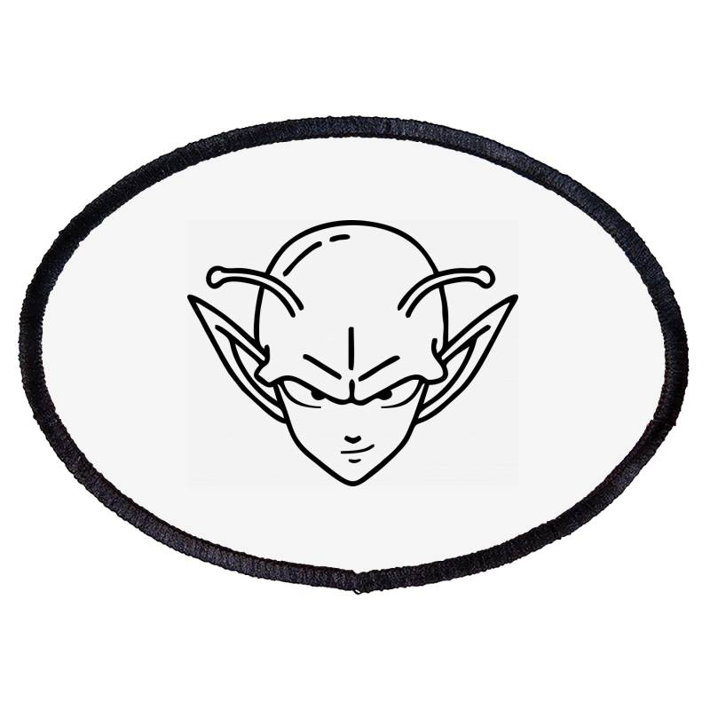 Dragon Ball Z (dbz) Piccolo (low Poly Abstract) Fanart Oval Patch | Artistshot