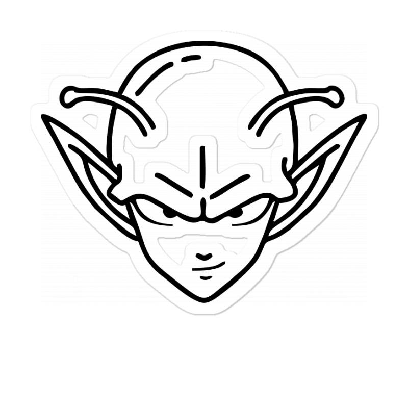 Dragon Ball Z (dbz) Piccolo (low Poly Abstract) Fanart Sticker | Artistshot