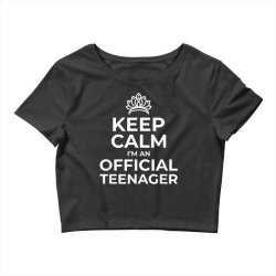 keep calm birthday official teenager Crop Top | Artistshot