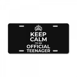 keep calm birthday official teenager License Plate | Artistshot