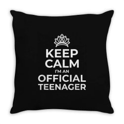keep calm birthday official teenager Throw Pillow | Artistshot